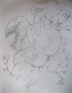 Venom By Michael Turner Doodle Art Drawing, Comic Drawing, Cool Art Drawings, Art Sketches, Spiderman Drawing, Spiderman Art, Venom Pictures, Venom Art, Marvel Drawings