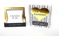 The most perfect Graduation Gift!  Or anytime gift really!  Own Your Awesome™ Affirmation Deck