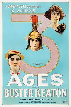 US one sheet for THREE AGES (Buster Keaton and Eddie Cline, USA,...