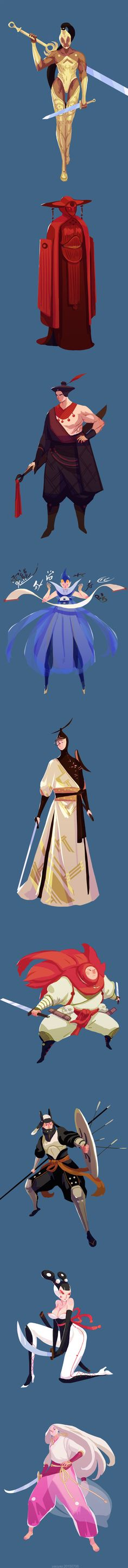yao yao on Behance Character Design References, Game Character, Character Concept, Concept Art, Character Illustration, Illustration Art, Don Miguel, Character Design Inspiration, Monster