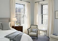 I like this color palette. I want to see dark wood floors with a person style rug in beige cream and blue