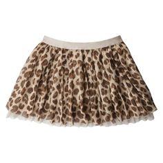 Pair with a brown shirt w/ Mickey head in cheetah print.  Perfect for Animal Kingdom!!  Cherokee® Girls' Chiffon Skirt  Target $14.99