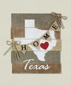 Loving this 'Texas' Wood Slat Wall Art on #zulily! #zulilyfinds
