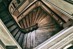 Wooden Stairs Wood Print by Mariola Bitner Stairs Architecture, Victorian Architecture, Wooden Stairs, Architectural Elements, Wood Print, Stairways, Beautiful Images, Fine Art America, House Design