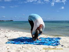 Dangling in the Forward Fold Pose on a beach in Playa del Carmen, Mexico. What Is A Metaphor, Yin Yoga Poses, 2nd Chakra, Forward Fold, Yoga Block, Upper Body, Mexico, Stress, How Are You Feeling