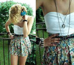 blue, dress, fashion, girl, jewelry