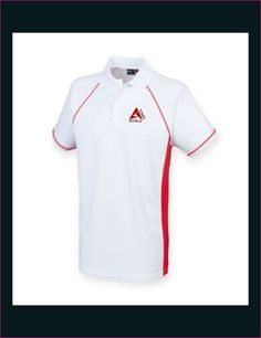 Atomic Bowls Lawn Bowls Performance Polo Shirt Mens Womens Unisex Red & White  #ATOMICBOWLS