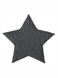 Elegant Baby Baby's Faux Fur-Lined Cable-Knit Star Blanket - Charcoal