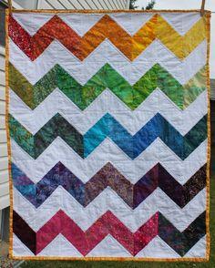 Rainbow Zig Zag Baby Quilt!