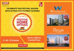 Celebrate this Festival Season with Attractive Payment Schemes - DSRInfra
