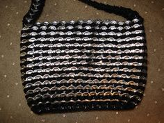 purse made from pop tabs