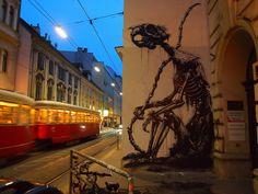 Vienna (AT) - Siebensterngasse 'Le Penseur' by ROA !, via Flickr