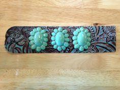 Sookie Sookie: Tres Waxahatchie on Tooled Floral Leather Cuff