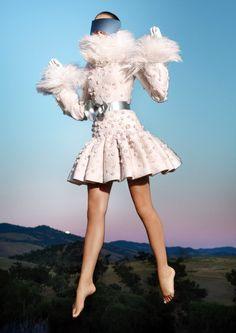 Dress Alexander McQueen, photograph Michael Thompson.