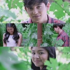 When they went to Napa Valley and peeked at each other through the grape vines. | 22 Times Clark And Leah From #OTWOL Gave Us Serious Relationship Goals