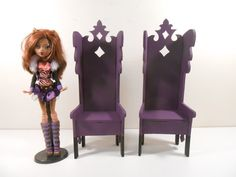 Monster High Furniture  Gothic Regal by MonsterMiniCustoms on Etsy, $48.00