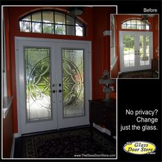 The customer wants to change from plain glass inserts to a traditional and fancier glass door insert. This reflects a traditional taste and high end feel. Georgeous! http://glassdoorstampa.com/traditional-and-classic-front-entry-glass-doors/
