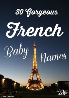 30 Gorgeous French Baby Names