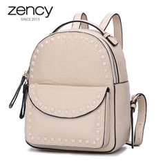 ... leather backpack directly from China leather backpack Suppliers  Fashion  Women Genuine Leather Backpack Female Real Cowhide Travel Daily Rucksack  Ladies ... b1de663b3cd07