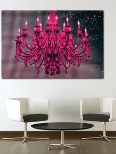 Grit & Glamour: Fluorescent Palace Art