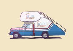 Iconic vehicles by Ian Carrington, via Behance