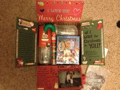 Christmas care package Notes from the Home Front: Christmas Care Packages How Baby Monitors Work One Christmas Care Package, Diy Christmas Gifts, Christmas Themes, Christmas Fun, Holiday Fun, Christmas Packages, Christmas Boxes, Missionary Care Packages, Deployment Care Packages