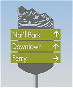 Private directional signs are intended to inform motorists of public and privately owned natural phenomena, historic, cultural, scientific Park Signage, Directional Signage, Wayfinding Signs, Outdoor Signage, Environmental Graphic Design, Environmental Graphics, Totems, Illuminated Signs, Sign System