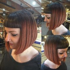 43 gorgeous prom hairstyle designs for short hair prom hairstyles 2019 29 – JANDAJOSS. Stacked Bob Hairstyles, Prom Hairstyles For Short Hair, Curly Bob Hairstyles, Trending Hairstyles, Curly Hair Styles, Bobbed Haircuts, Girl Hairstyles, Bob Haircut With Bangs, Haircut For Thick Hair