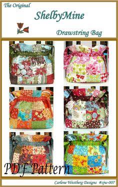 PDF Bag Pattern The Original ShelbyMine by CarleneWestberg on Etsy, $8.50