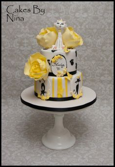 Elegant Cat - Cake by Cakes by Nina Camberley