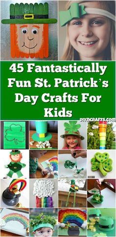 45 Fantastically Fun St. Patrick's Day Crafts For Kids - Really easy and cute projects curated and collected by diyncrafts.com team <3 via @vanessacrafting