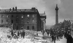 Dublin GPO 1916 Easter Rising & Metropole Hotel ruins    irelandposters.com