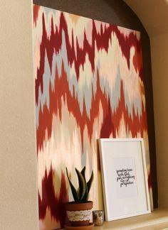 DIY Chevron Ikat Canvas:  Child at Heart Blog