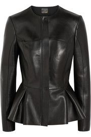 Fendi Peplum leather jacket