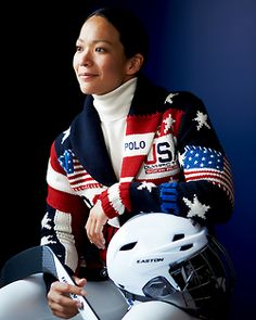 """"""" Team USA: Sochi 2014 """" """"The opening ceremony is so special, and the outfits that we wear really represent our country and the American spirit. We're so fortunate to have Ralph Lauren as our. Olympic Athletes, Olympic Sports, Olympic Team, Olympic Games, Women's Hockey, Hockey Girls, Hockey Rules, Hockey Stuff, Us Olympics"""