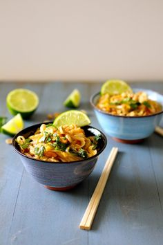 Classic Pad Thai | The Curvy Carrot Classic Pad Thai | Healthy and Indulgent Meals Dangling in Front of You