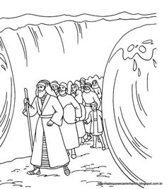 001 Moses 15 Coloring Page