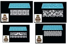SILICONE FONDANT CAKE MOLD LACE CHOCOLATE MOULD EDIBLE  SUGAR LACE MAT SILICON