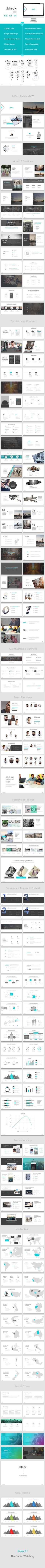 black- Business Presentation Template - Business PowerPoint Templates
