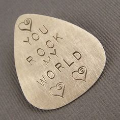 Sterling Silver Custom Guitar Pick by lpjewelry on Etsy