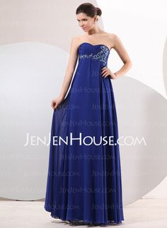 Evening Dresses - $134.99 - Empire Sweetheart Floor-Length Chiffon Charmeuse Evening Dresses With Ruffle Beading (017014047) http://jenjenhouse.com/Empire-Sweetheart-Floor-length-Chiffon-Charmeuse-Evening-Dresses-With-Ruffle-Beading-017014047-g14047