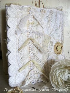 Sweet Magnolias Farm Original ~Farmhouse Keepsake Journal ~ Tattered Lace and Matelese ~ SOLD to a Good Home !