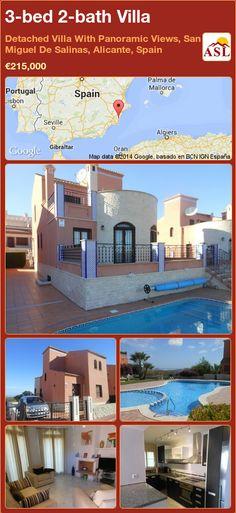 3-bed 2-bath Villa in Detached Villa With Panoramic Views, San Miguel De Salinas, Alicante, Spain ►€215,000 #PropertyForSaleInSpain