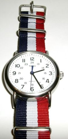 Timex Red White Blue Nato Watch Band