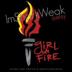 YW LDS Torch Girl on Fire T Shirt by thingsmostly on Etsy