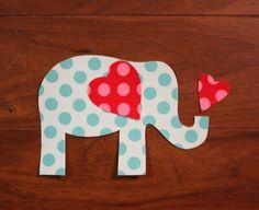 Valentine Elephant No Sew Iron On Applique You by EllaBaDellas