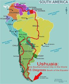 south america bicycle touring route