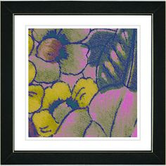 Floral Conjunction Rose by Zhee Singer Framed Fine Art Giclee Painting Print