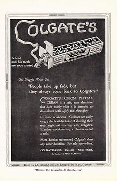 """Items similar to Colgate's Dental Cream AD,""""A Fool and His Teeth are Soon on Etsy 1920s Advertisements, Retro Advertising, Colgate Toothpaste, Ipad Pro 12 9, Teeth Cleaning, Vintage Ads, The Fool, Something To Do, Dental"""