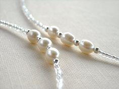 Pearl Eyeglass Chain - Rice Pearls - Beaded Eyeglass Chain - Eyeglass Necklace - Eyeglass Holders Necklaces - Eyeglass Leash - Still Water
